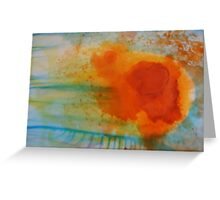 Summer Flame Blossom Greeting Card