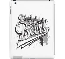 Blood, Sweat + Beers iPad Case/Skin