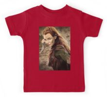 Tauriel Portrait- The Hobbit, Desolation of Smaug Kids Tee