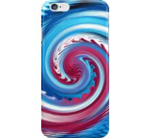 BLUE TWIRL PINK ABSTRACT iPhone Case/Skin
