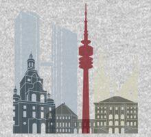 Munich skyline poster Kids Tee