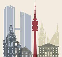 Munich skyline poster by paulrommer