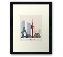 Munich skyline poster Framed Print