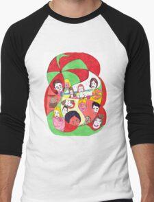 Beach Ball Faces Men's Baseball ¾ T-Shirt