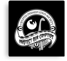 Cryptid Preservation Society Canvas Print