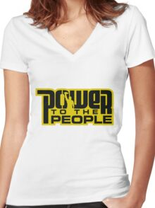 Power To The People - GOLD Women's Fitted V-Neck T-Shirt