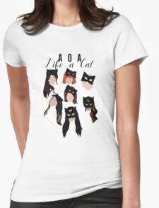 Like A Cat Womens Fitted T-Shirt