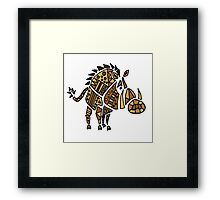 Cool Funky Warthog Abstract Art Framed Print