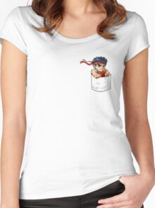 Pocket Ryu Women's Fitted Scoop T-Shirt