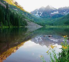 The Lake below Maroon Bells by Cathy Jones