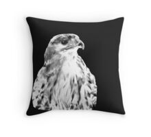 Drawing of Red Tailed Hawk Throw Pillow