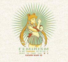 Feminism is Sailor Moon Zipped Hoodie