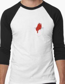 pocket buddy red guy Men's Baseball ¾ T-Shirt