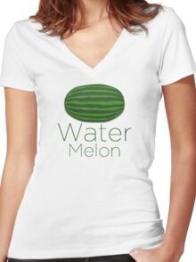 Water Melon Women's Fitted V-Neck T-Shirt