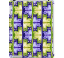 Cattern in purple and green iPad Case/Skin