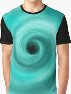 BULE TO GREEN ABSTRACT TWIRL Graphic T-Shirt