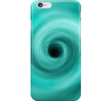 BULE TO GREEN ABSTRACT TWIRL iPhone Case/Skin