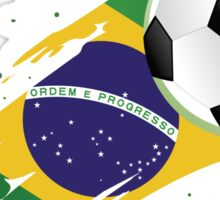 Brazilian Soccer Flag Sticker