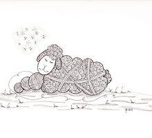 Tangled Sleepy Sheep by Christianne Gerstner