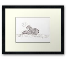 Tangled Sleepy Sheep Framed Print