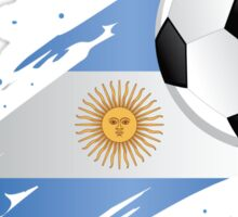Argentinian Soccer Flag Sticker