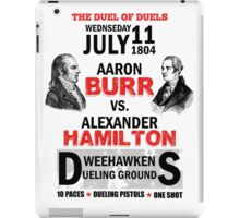 Burr Vs Hamilton iPad Case/Skin