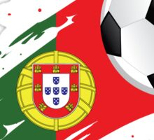 Portuguese Soccer Flag Sticker