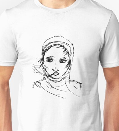 Smoking with headscarf Unisex T-Shirt
