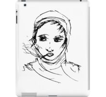 Smoking with headscarf iPad Case/Skin