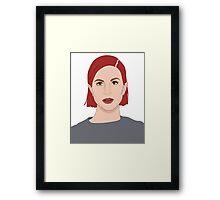 Paramore Hayley Digital Art Framed Print