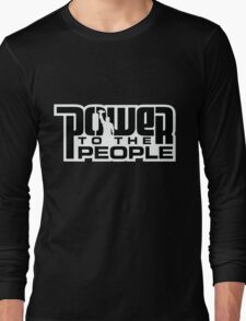 Power To The People - BLACK Long Sleeve T-Shirt