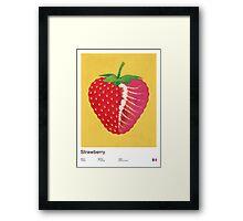 Strawberry (yellow) - Natural History Fruits Framed Print