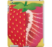 Strawberry (yellow) - Natural History Fruits iPad Case/Skin