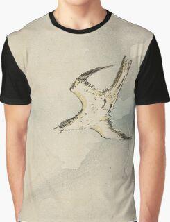 Utagawa Kuniyoshi - Hototogisu. Bird painting: cute fowl, fly, wings, lucky, pets, wild life, animal, birds, little small, bird, nature Graphic T-Shirt