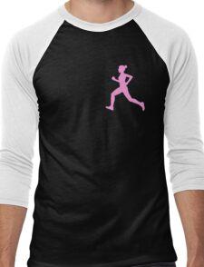Happy Running Girl Pattern Men's Baseball ¾ T-Shirt