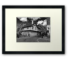 "The Kings Arms. ""The pub that floods"" Framed Print"