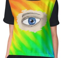 eye see a rainbow  Chiffon Top