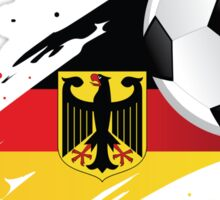 German Soccer Flag Sticker