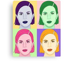 Hayley Williams Paramore Andy Warhol Canvas Print