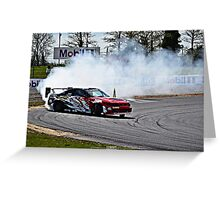 Nissan Skyline R33 GTR Drifting Greeting Card