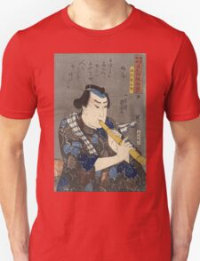 Utagawa Kuniyoshi - Oshaku Somegoro From The Series Men Of Ready Money With True Labels Attached, Kuniyoshi Fashion .  Unisex T-Shirt