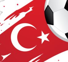 Turkish Soccer Flag Sticker