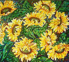 """Bountiful Sunflowers"" by Deborah Glasgow"