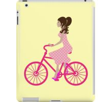 Girl On A Pink Bike iPad Case/Skin