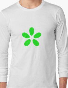 Green Flower Long Sleeve T-Shirt