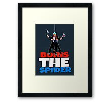 Boris The Spider Framed Print