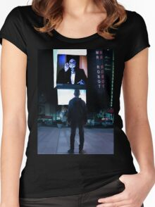 Mr Robot Poster Women's Fitted Scoop T-Shirt