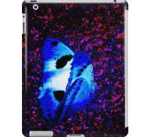 Blue Butterfly amongst a colony of Bats iPad Case/Skin