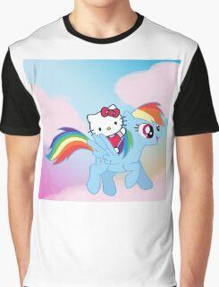 Hello Kitty & Rainbow Dash! Graphic T-Shirt