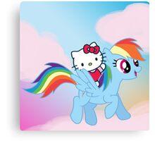 Hello Kitty & Rainbow Dash! Canvas Print
